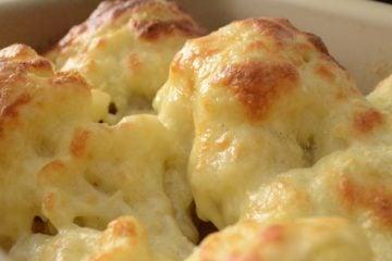 healthy recipe, cauliflower and broccoli gratin