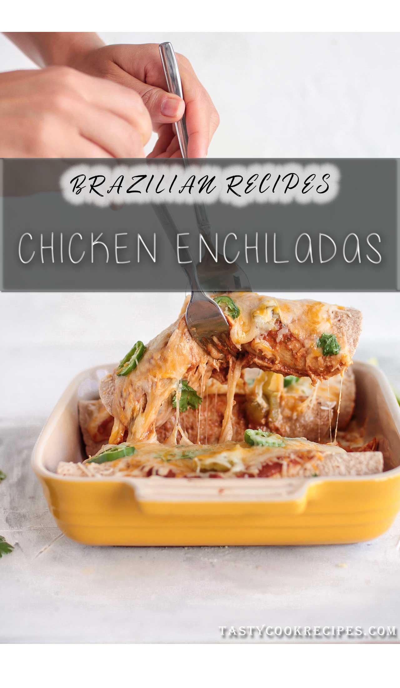Chicken Panquecas or Brazilian Chicken Enchiladas