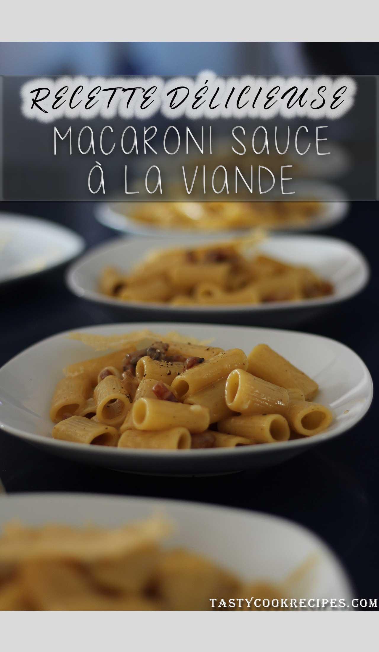 sauce à la viande, recette de pates macaroni