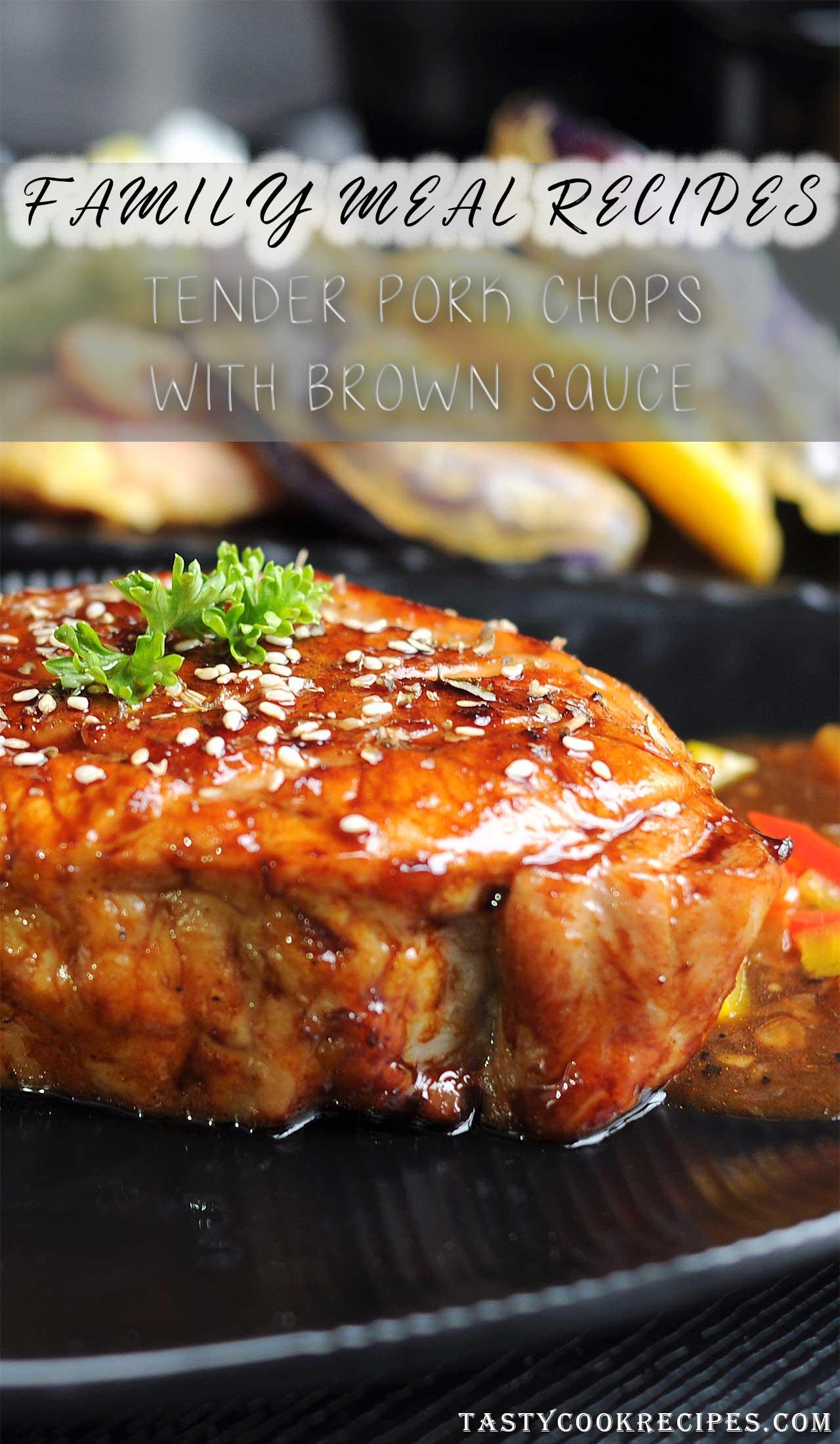 pork in the oven recipe, pork chops brown sauce recipes