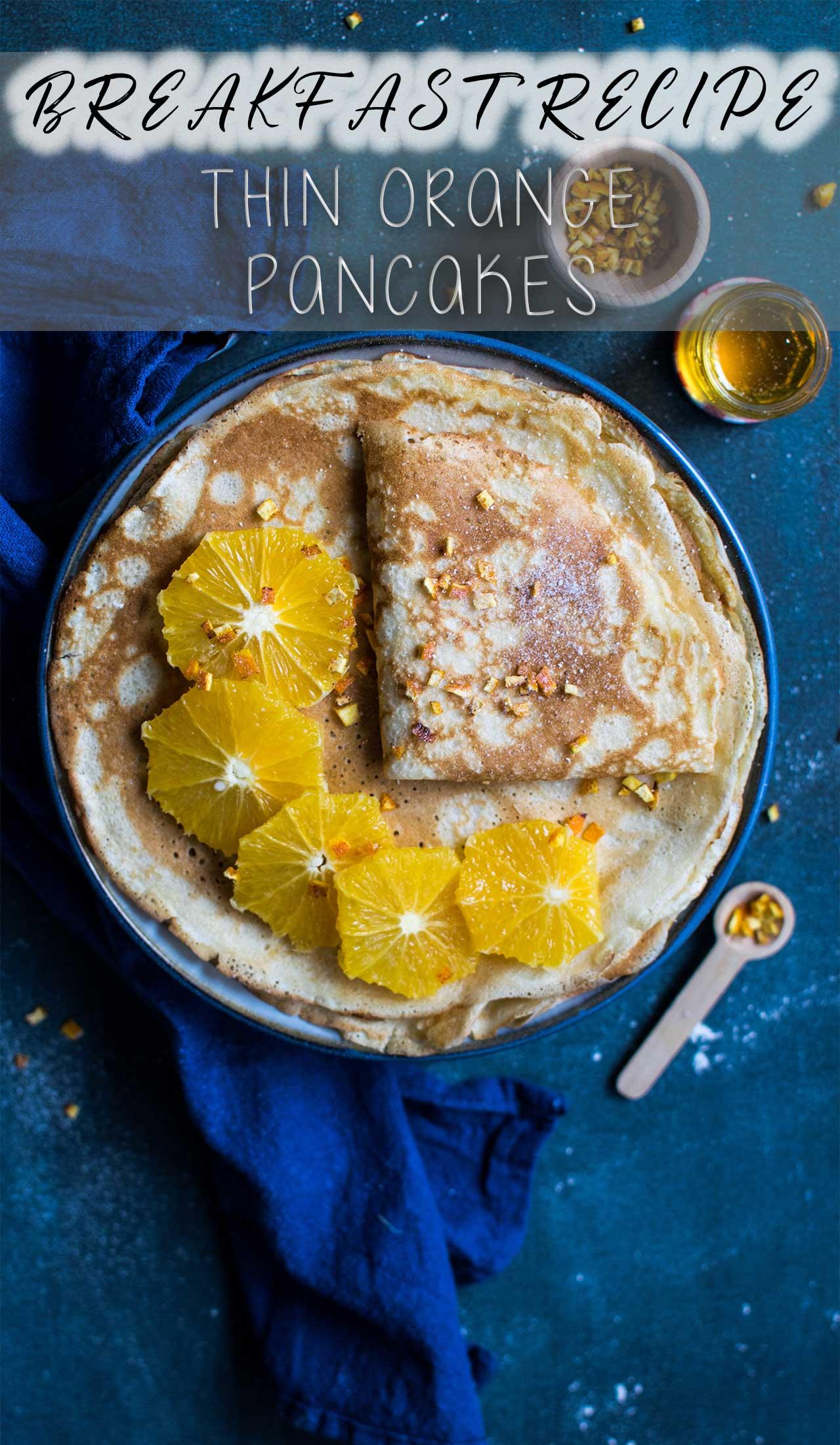 breakfast recipe, orange pancake recipe